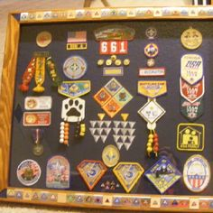 cub scout shadow box - cool way to showcase their awards once they move on to boy scouts!