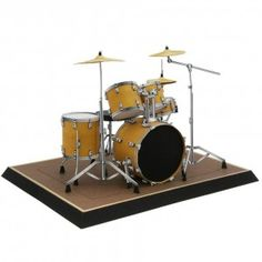 Download Drum set Papercraft Model