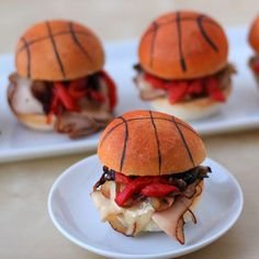 Basketball sliders for a party!