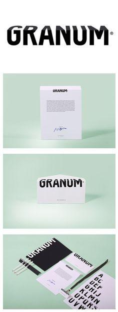 Me gusta la sencillez en el concepto de la identidad de Granum, una web sobre arquitectura y diseño de estructuras. El borde que se simula en su logotipo se aplica perfectamente a toda su papelería y demás aplicaciones.