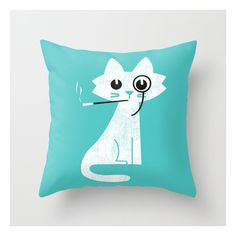 Mark - Aristo-cat Throw Pillow ($20) ❤ liked on Polyvore