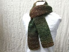 Crochet Scarf Green by ScarfShack on Etsy