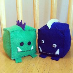 Day 15: Monster. Felt block monsters (as seen in Little Fluff Stuff's Etsy store) #30DoC