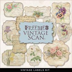Far Far Hill: Freebies Vintage Style Kit of Labels
