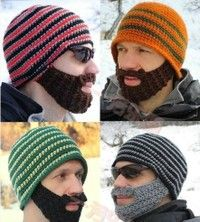 nanny for me cool hats crochet beard hat gifts for brother