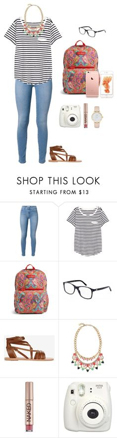 """""""a dream is a wish your heart makes ❣"""" by jackelinhernandez ❤ liked on Polyvore featuring 7 For All Mankind, H&M, Vera Bradley, Versace, Ancient Greek Sandals, Stella & Dot, Urban Decay and Kate Spade"""