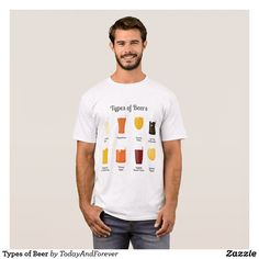 Types of Beer T-Shirt