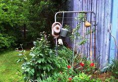 Through the vintage 'metal' garden gate