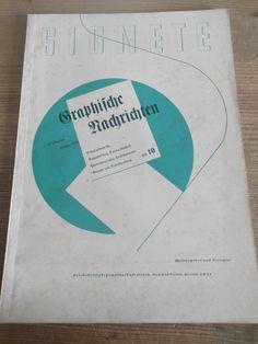 Cover Graphische Nachrichten, 18. Jahrgang, Heft 10, Oktober 1934