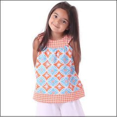 Download Round Neck Top Sundress- Sizes 2-7 Sewing Pattern   Featured Products   YouCanMakeThis.com