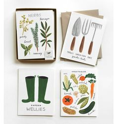 Homegrown Garden Set - stationery - v cute