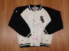 Vintage Deadstock Chicago White Sox Apex 1 Denim Bomber Jacket Snoop Dog Dre #ApexOne #ChicagoWhiteSox