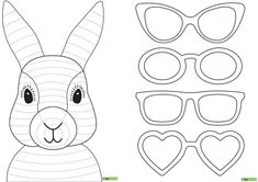 Teaching Resource: A fun Easter craft activity using an Easter bunny with funky glasses. Easter Bunny Template, Funny Easter Bunny, Bunny Templates, Bunny Bunny, Easter Craft Activities, Easter Crafts For Kids, Rabbit Crafts, Bunny Crafts, Lapin Art