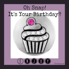 Magnolia and Vine Snap Jewelry!  Cupcake Snap to say Happy Birthday!  Interchangable snaps go from casual to glitz glam!!