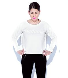 MADAME sweatshirt white fashion ootd warsaw backstage backstg