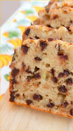 Banana bread ou cake à la banane {vegan} - Perle en sucre - Brot Rezept Banana Cake Vegan, Healthy Banana Bread, Chocolate Chip Banana Bread, Chocolate Chip Recipes, Healthy Zucchini, Zucchini Bread, Easiest Bread Recipe No Yeast, Easy Bread Recipes, Banana Bread Recipes