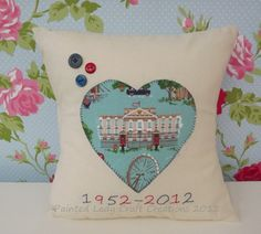 Celebrate our Queen's Jubilee with this amazing cushion by Painted Lady Craft Creations at www.creativestores.co.uk