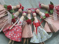 Sophie Tilley peg dolls.