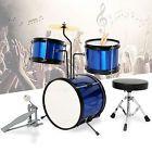 Blue 3 Piece Complete Junior Drum Set Cymbal Child Kids Kit w/ Stool Drum Sets For Sale, Junior Drum Set, Kits For Kids, 3 Piece, Drums, Stool, Music Instruments, Child, Sticks