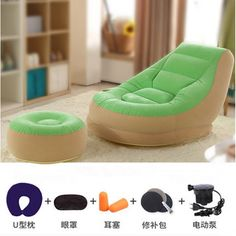Inflatable Mattress Soft Bed With Footstool Bed Beanbag Folding Softs Bedroom Furniture Muebles De Dormitorio Free Shipping