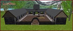 Medieval Gothic Barn and Stables, Living Quarters & 14 Large Stalls
