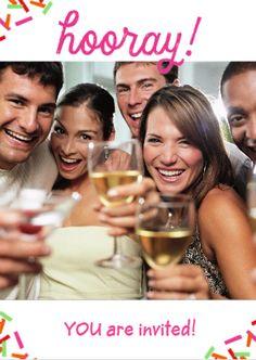 Met een vrolijke foto pimp je deze uitnodiging helemaal op!  #Hallmark #HallmarkNL #uitnodiging #feest