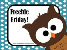 Fern Smith's Classroom Ideas Pinterest Board for Freebie Friday Free Teacher Resources!