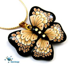 Butterfly millefiori pendant | Flickr - Photo Sharing!
