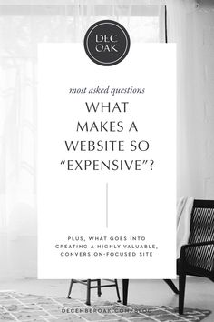 """What makes websites so """"expensive'? What exactly goes into a website? Here's our website investment explanation on the blog! #websitedesign #websitestrategy #showitwebsite #customwebsite Minimal Website Design, Website Header Design, Custom Website Design, Homepage Design, Web Design Tips, Creative Business, Business Tips, Online Business, Most Asked Questions"""
