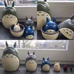 Totoro nesting dolls.