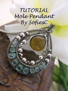 wire stone pendant: