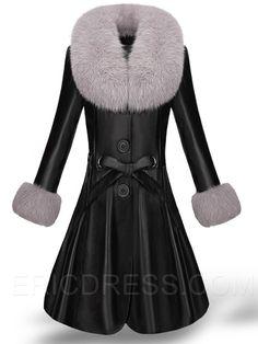 Black Single-Breasted Luxury Faux Fur Coat Coats