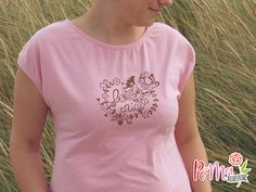 genähtes 20 Minuten Shirt von muckelie mit Plotterdatei von Rebekah Ginda Design und toller neuer Vintage Folie