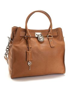 MICHAEL Michael Kors Handbag, Large Hamilton Chain Tote with Silver Hardware - Handbags & Accessories - Macy's