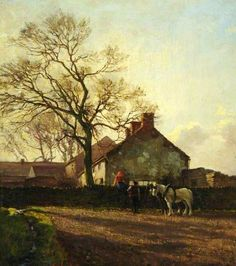 March Afternoon by George Hamilton Constantine   Museums Sheffield Oil on canvas, 46.2 x 41 cm Collection: Museums Sheffield