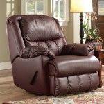 $634.39  Recline Designs Furniture - Brandice Bonded Leather Rocker Recliner - 1105RR