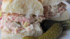 Photo of Bologna Salad Sandwich Spread II by Margaret Campbell Bologna Recipes, Meat Recipes, Food Processor Recipes, Cooking Recipes, Fish Recipes, Salad Recipes, Homemade Bologna, Homemade Ham, Bologna Salad