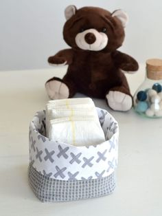 DIY: Basket of fabric - My Simply Special, Baby Tarzan, Diy Bebe, Baby Baskets, Baby Eating, Baby Time, Baby Quilts, Diy For Kids, Diy Clothes, Baby Boy
