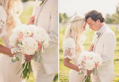 Gorgeous bouquet and floral halo by @Studio Stems