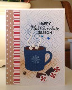 Card christmas drink cup mug chocolate candy sweets MFT Hot cocoa cups Die-namics Hug in a Mug #mftstamps - emossing folder - JKE