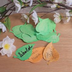 Green Wishing Leaves   Elements for Spells and Rituals   BrianaDragon Creations