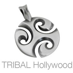 THREEWAVES Celtic Spiral Pendant in Silver | Tribal Hollywood