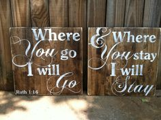 Where You Go I Will Go  Ruth 116  Set of by ExpressionsWallArt, $40.00