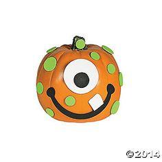Easy Halloween Craft Idea for Kids Mini Pumpkin Monsters | Small pumpkins Mini pumpkins and Monsters  sc 1 st  Pinterest & Easy Halloween Craft Idea for Kids: Mini Pumpkin Monsters | Small ...
