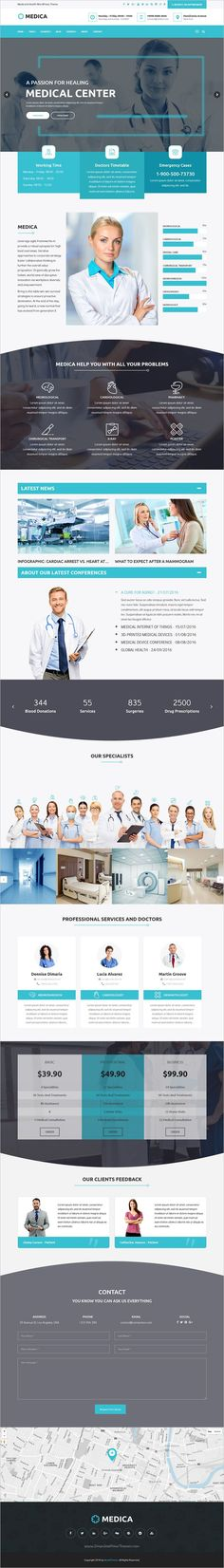 MedicaWP is a stilish and modern design responsive #WordPress theme for #medical, hospital and healthcare #websites with 11+ unique homepage layouts download now➩ https://themeforest.net/item/medicawp-a-stilish-medical-hospital-health-wordpress-theme/18977250?ref=Datasata
