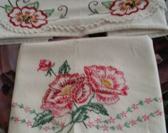 1950 embroider pillowcases - Google Search