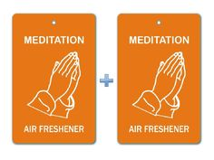 Meditation Air Freshener Paper Hanging Bar (Pack of 2)/ Car-Home-Office Natural Thought Fragrance