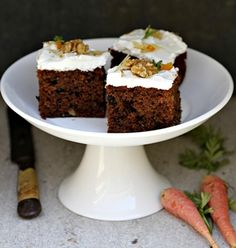 Recipe: Carrot Walnut Cake with Mascarpone Frosting