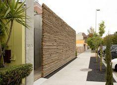 scrap wood exterior wall