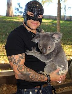 Is the weird thing in this photo that the koala is copping a feel? Um, no.